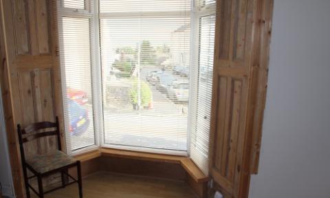 Bay window with sea views